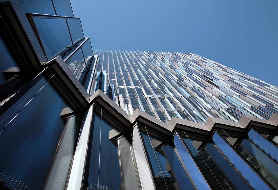 KfW Westarkade; KfW-Ipex Bank; Frankfurt; Architektur-Foto; energieeffizientes Hochhaus; Bürogebäude_architektur_foto_frankfurt_kfw_westarkade_klewar-photographie