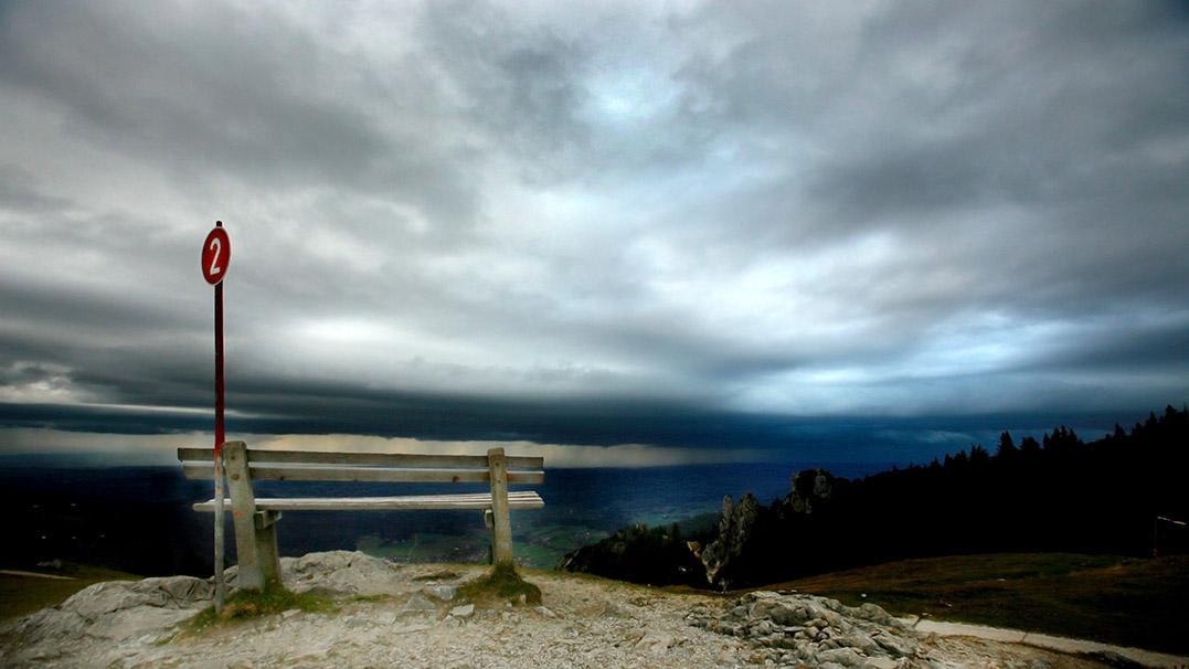 Reise; Kampenwandbahn; Bergstation; Chiemgauer Berge; Sturm; Unwetter; Landschaftsfotograf; Fotograf Frankfurt; Fotograf in Klingenberg; Fotograf in Miltenberg, alpen-chiemgau-klewar-photographie_8791